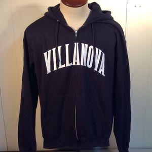 Champion Villanova zip up hoodie men's sz Large